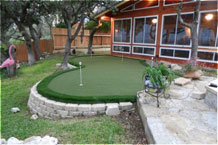 Backyard putting greens